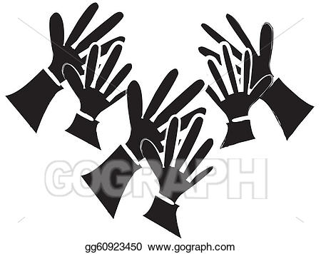 Applause clipart audience applause. Eps vector clapping hands