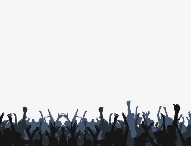 Cheerful black png and. Applause clipart audience applause