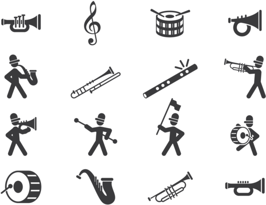 Download brass marching player. Applause clipart band