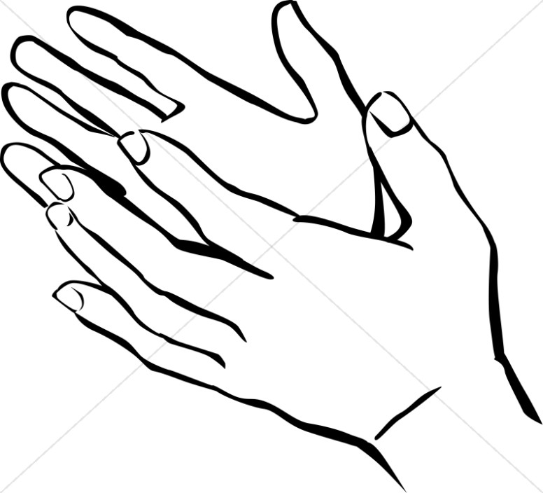 Applause clipart black and white. Clapping hands drawing at