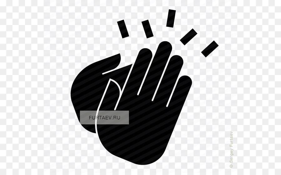 Clapping pictogram illustration png. Applause clipart black and white