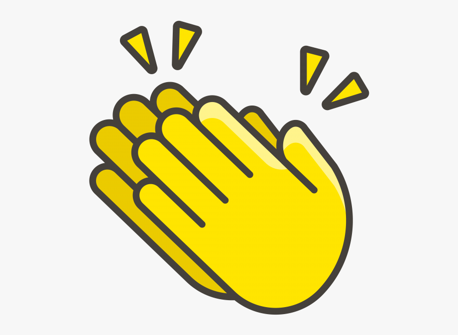 Applause clipart cartoon. Clapping hands emoji animated