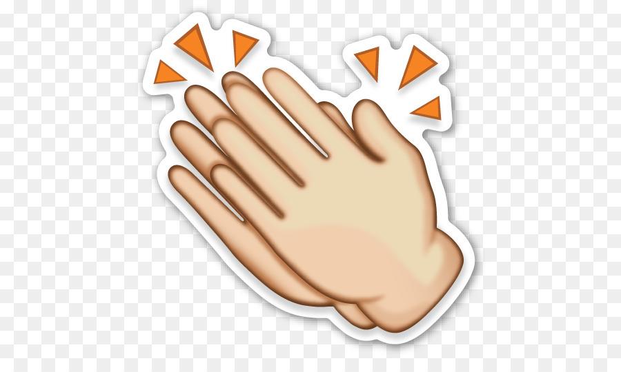 Clap clipart. Emoji sticker emoticon clip