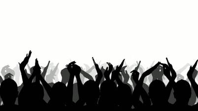 collection of cheering. Applause clipart concert