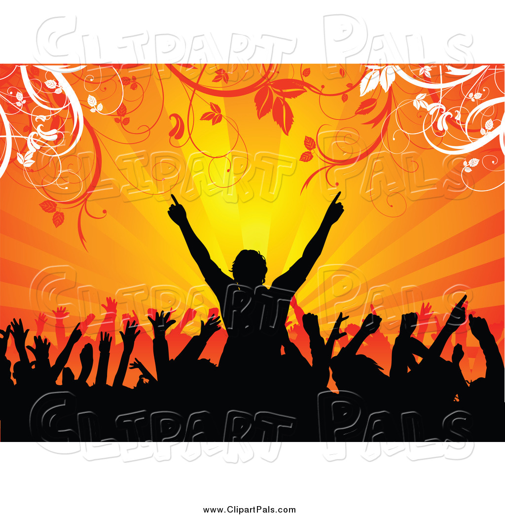 Fans crowd free collection. Applause clipart concert