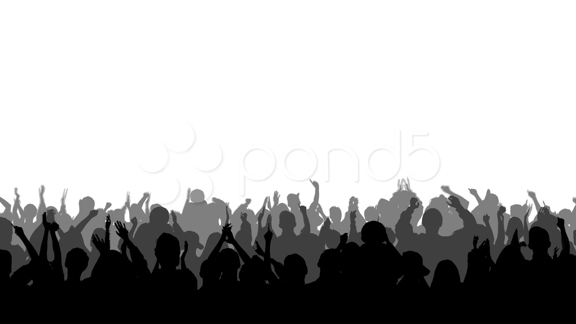 Audience cheering collection clapping. Applause clipart concert