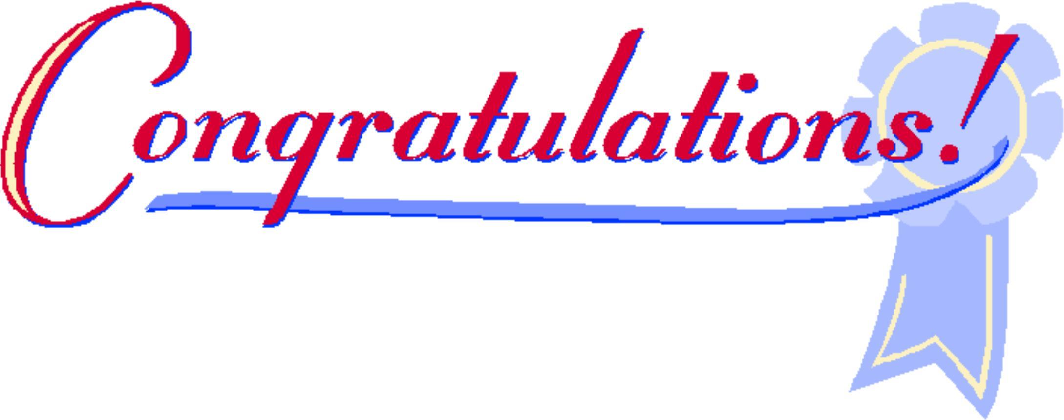 Applause clipart congratulation. Congratulations fancy design clip