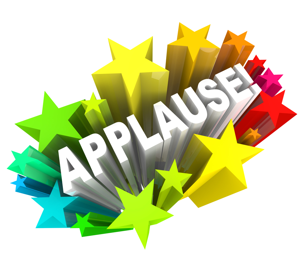 Congratulations to our survey. Applause clipart congratulation