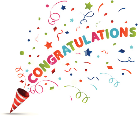 Applause clipart congratulation. Congratulations irma aec living