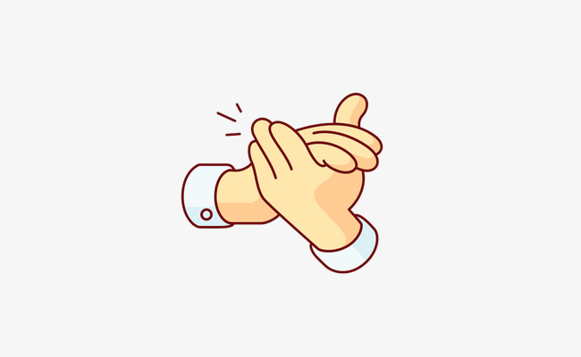 Applause clipart encouragement. Cartoon gesture finger applaud