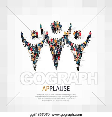 Vector stock symbol people. Applause clipart group