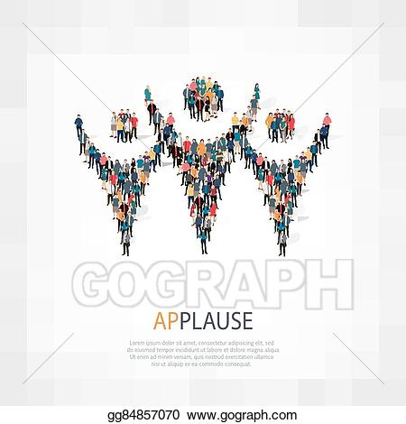 Applause clipart group. Vector stock symbol people