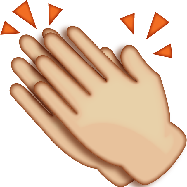 Clipart hand clapping. Download hands emoji icon