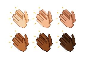 Hands clapping free vector. Applause clipart hand clap