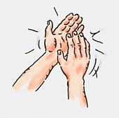 Applause clipart hand clap. Free clapping hands cliparts