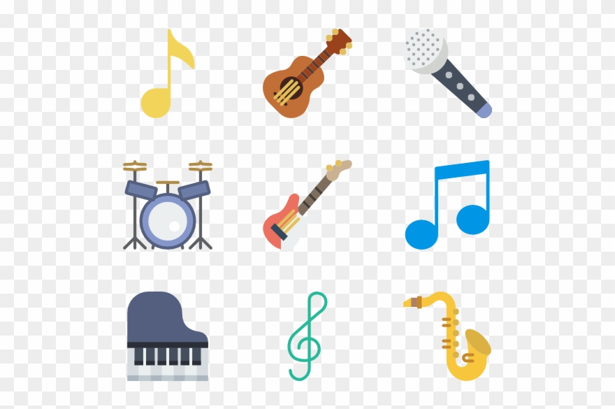 Clip stock band musical. Applause clipart instrument