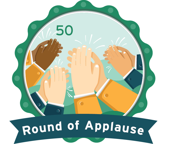 Applause clipart kudos. All jmaster s badges