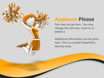 Please a powerpoint template. Applause clipart kudos