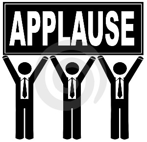 Applause clipart kudos. Gravel grinder cyclist not