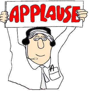 Time who would you. Applause clipart kudos