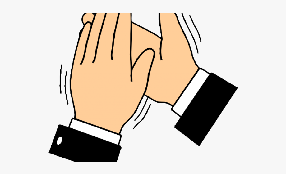 Clap black and white. Applause clipart laudable