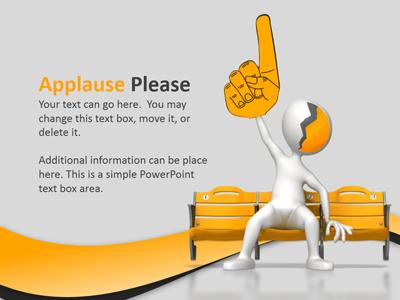 Applause clipart recognition. Text