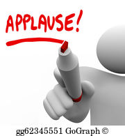Stock illustrations word appreciation. Applause clipart recognition