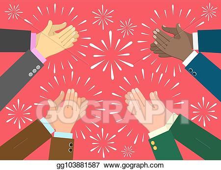 Applause clipart recognition. Vector art clap hands