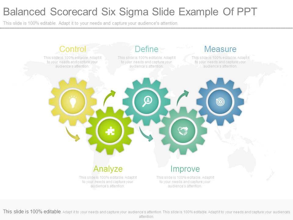 Balanced six sigma slide. Applause clipart scorecard