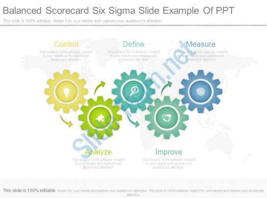 Applause clipart scorecard. Balanced six sigma slide