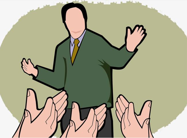 Vector applauds the speaker. Applause clipart sign language