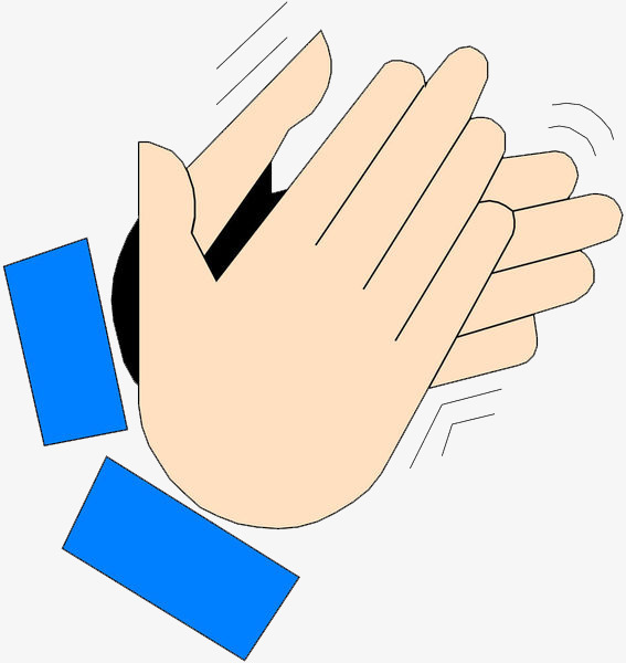 Flat clapping and welcoming. Applause clipart sign language