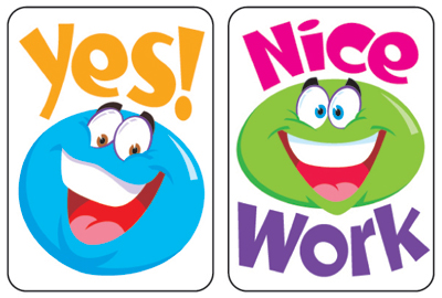Dominie faces stickers. Applause clipart smiley face