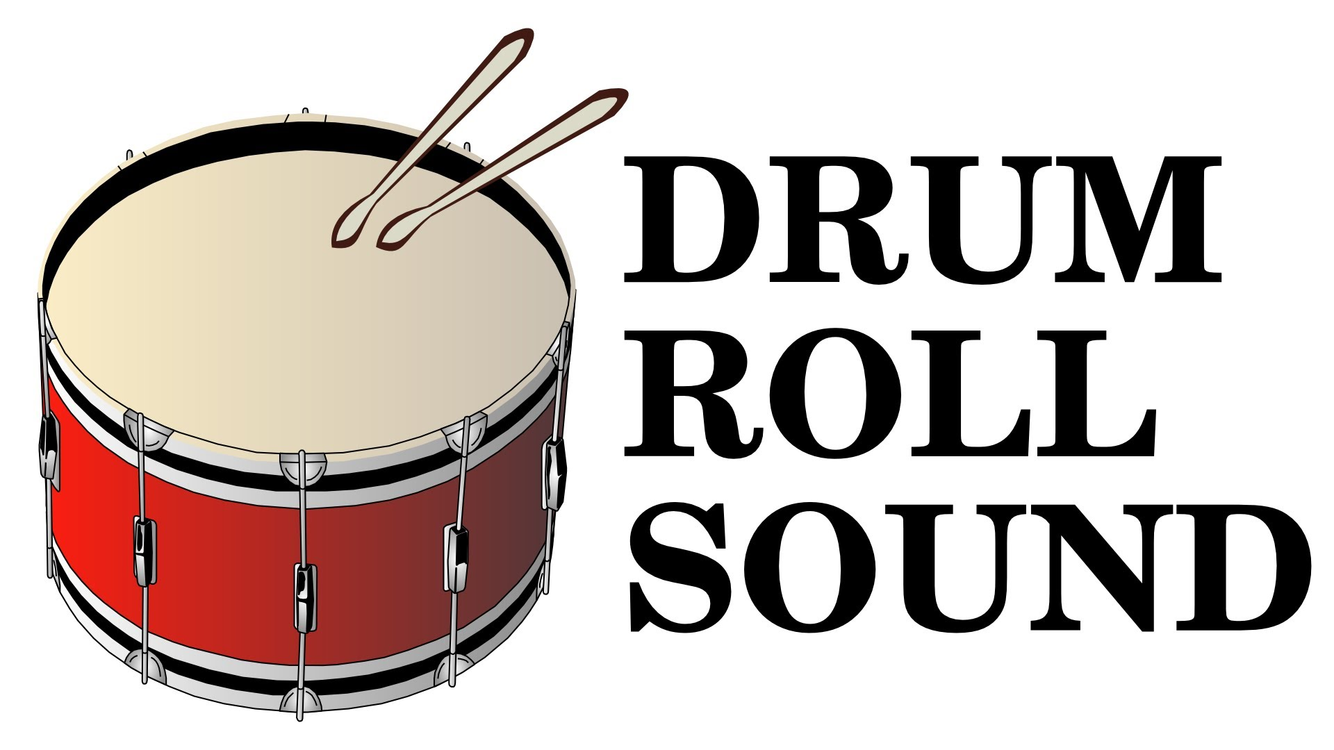 Announcement clipart sound. Drum roll effect high