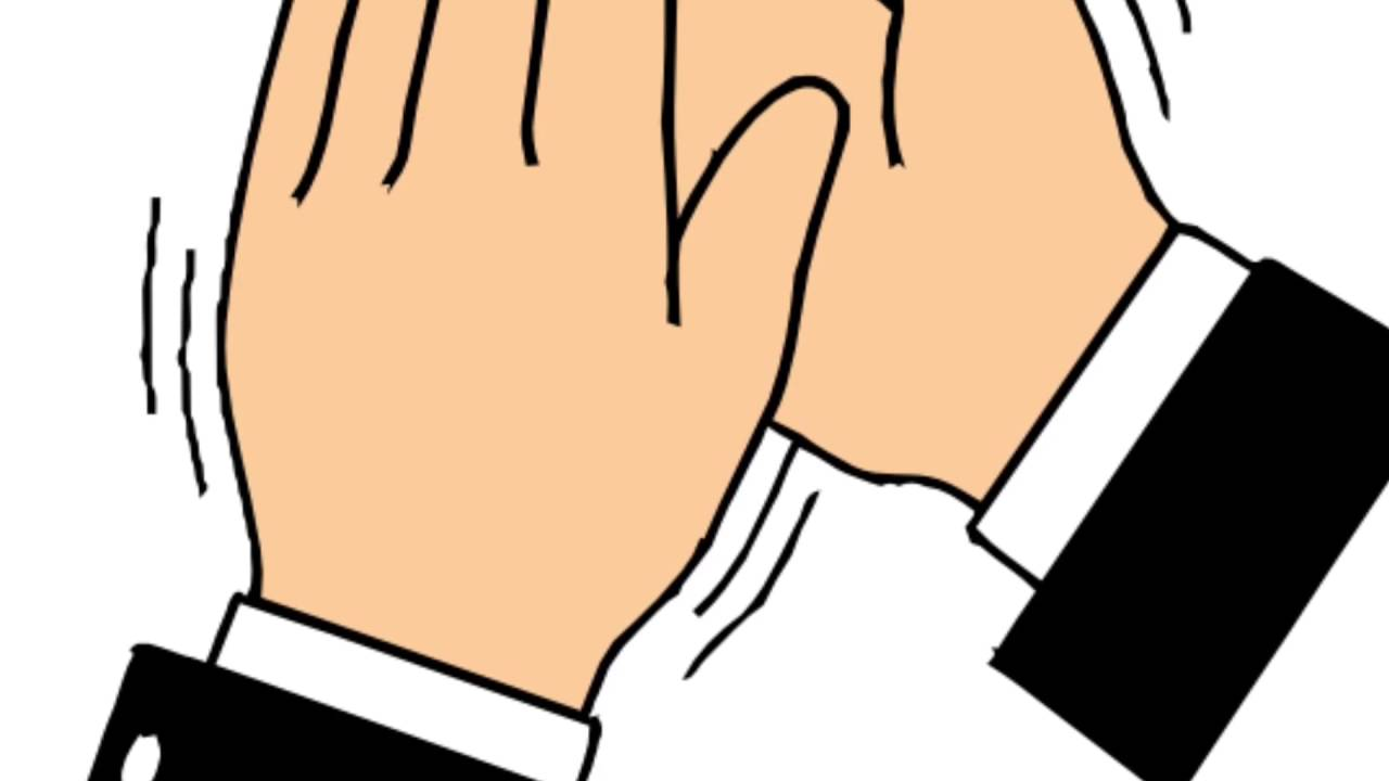 Applause clipart sound effect. Clapping hand youtube handsound