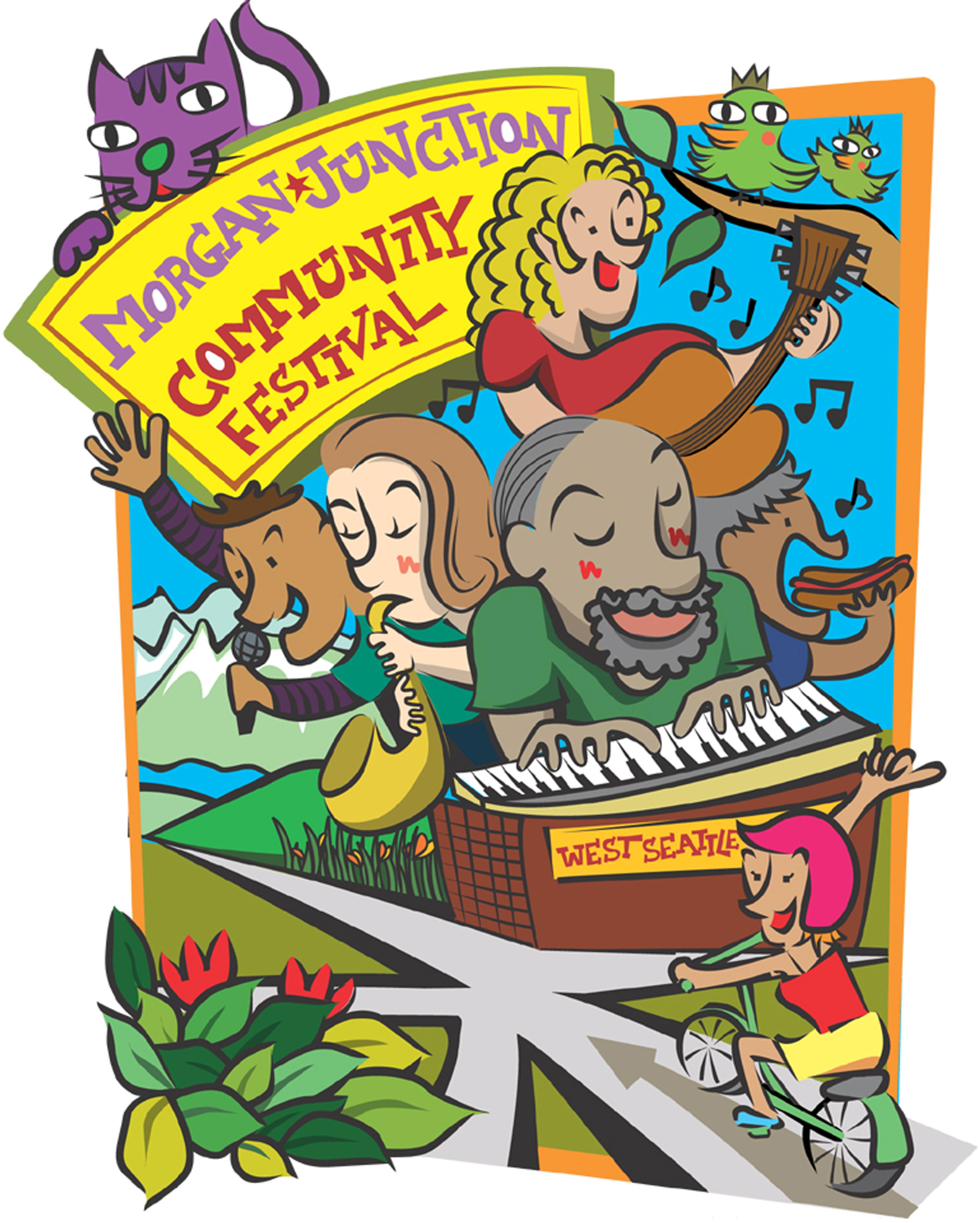 Applause clipart street festival. Morgan junction will kick