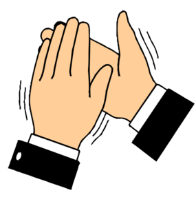 Clapping hands b g. Applause clipart transparent