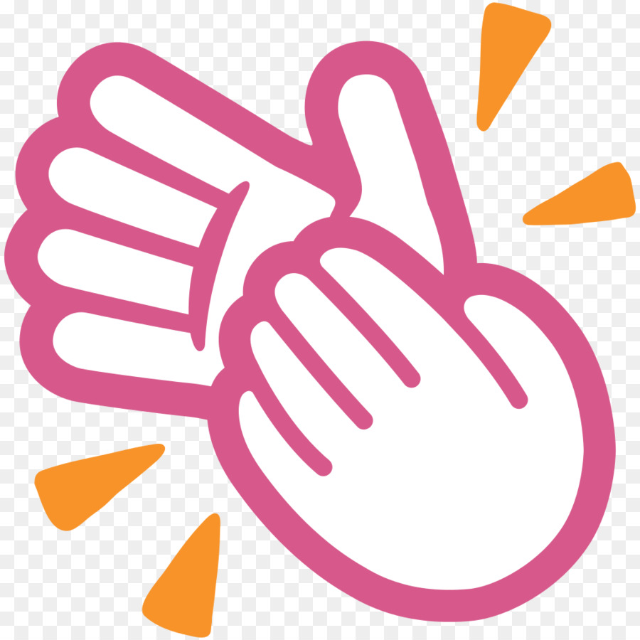 Applause clipart transparent. Emoji android clapping hand