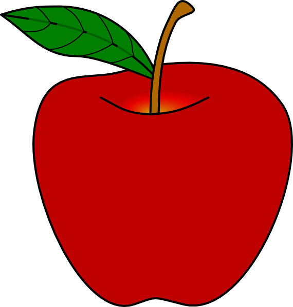 Red clip art at. Apple clipart