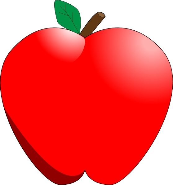 Apple clipart. Cartoon clip art free
