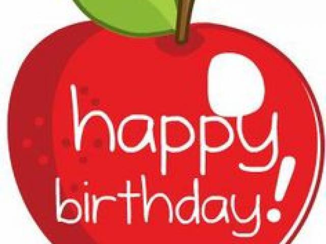 Apple clipart birthday. Free download clip art