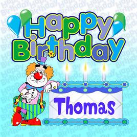 Apple clipart birthday. Happy thomas by the