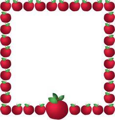 Borders clipart teacher. Apple border clip art