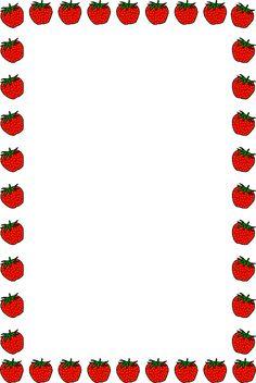 A rainforest page border. Apples clipart borders