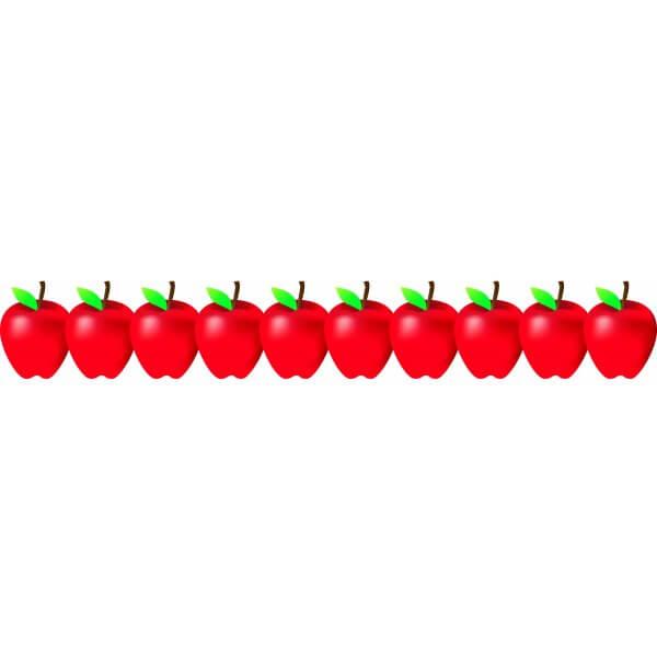 Apple clipart borders. Border red apples gclipart