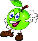 Apple clipart character. Clip art royalty free