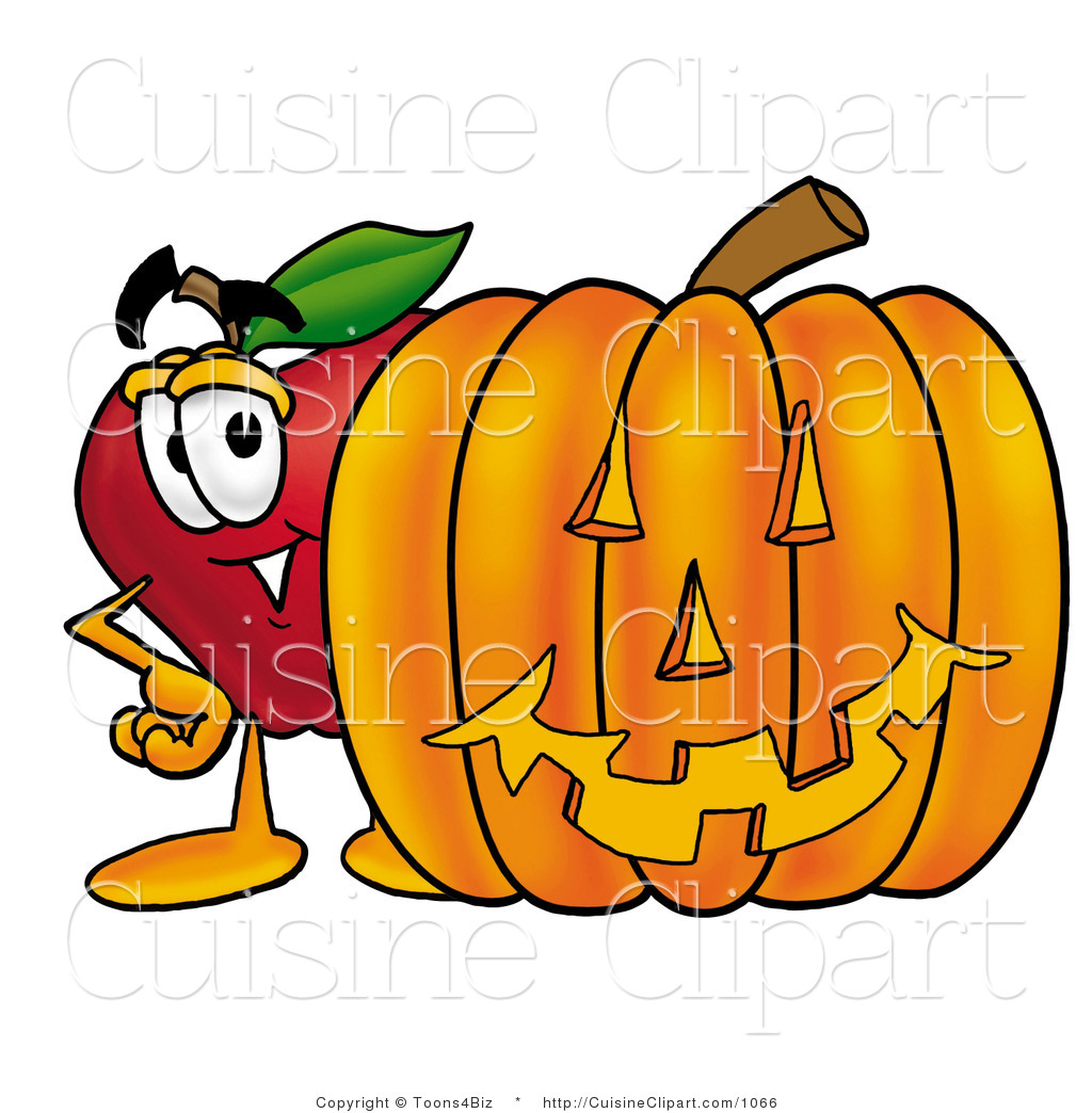 Apple clipart character. Cuisine of a friendly