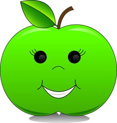 Collection of ten funny. Apple clipart character