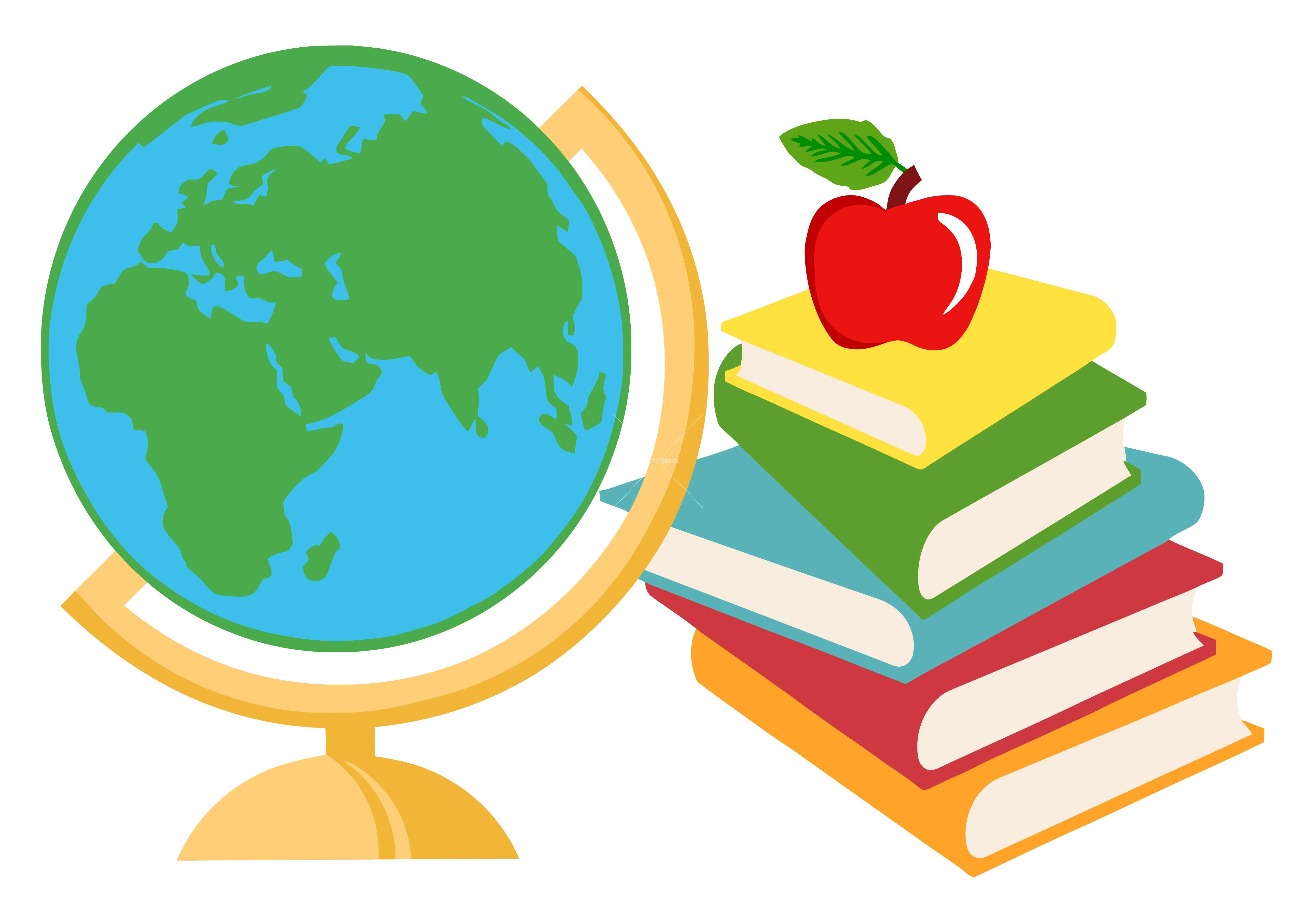 Geography clipart school. Classroom books cartoon station