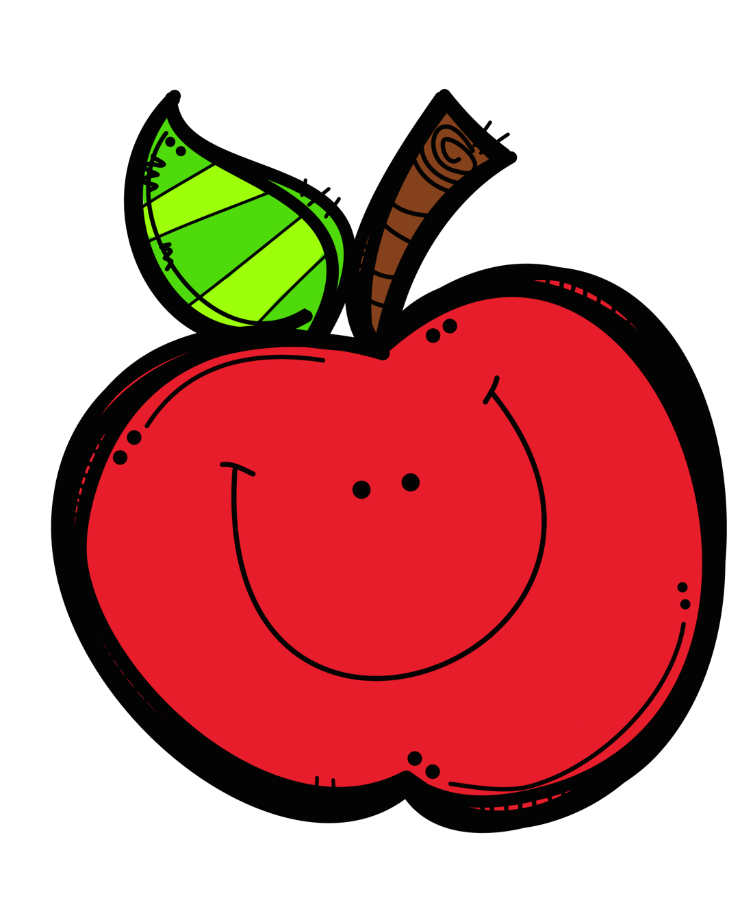 Counseling clipart happy. Cute apple clip art